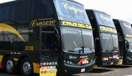 Cruz del Sur Bus Fleet in Lima Peru